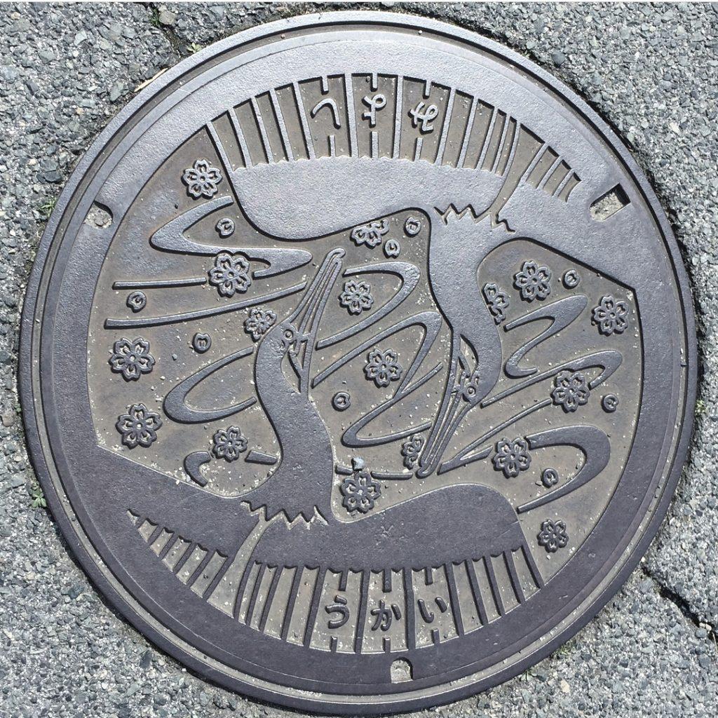 Plaque de Miyoshi - 2 cormorans