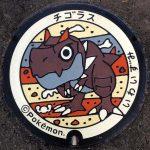 PokéPlak d'Iwaizumi figurant Ptyranidur